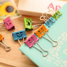 8Pcs 19mm Smile Metal Binder Clips For Home Office School File Paper Organizer