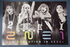 2NE1 - New Evolution In Seoul OFFICIAL POSTER *HARD TUBE CASE* UNFOLD