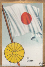 JAPON JAPAN  DRAPEAU FLAG IMAGE CARD 30s