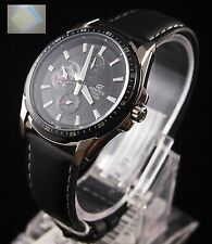 (Gift) + EF-336L-1 Casio Analog Edifice Gents Dress Watch Black 100% Original