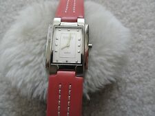 Berenger Steel Quartz Ladies Watch with a Pretty Leather Band - Water Resistant