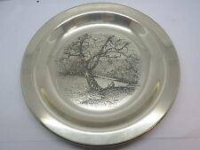 "1972 Franklin Mint "" Along The Brandywine"" Sterling Silver Plate by James Wyeth"