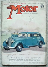 The MOTOR Magazine 16 March 1937 Easter Holiday Number RAC RALLY