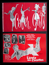 COVER GIRLS COCOTTE 2 Aff Pub BRENOT Pin-up BENAZERAF Erotisme Film 1958/1962