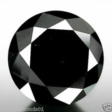 0.49 ct NATURAL LOOSE DIAMOND JET BLACK OPAQUE ROUND BRILLIANT CUT JEWEL USE NR