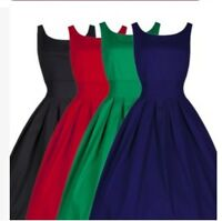 Womens Sleeveless Flared Franki Party Ladies Skater Dress Top 16-26