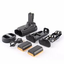 MeiKe BG-E14 Vertical Battery Grip Holder For Canon 70D +2x LP-E6 + Dual Charger