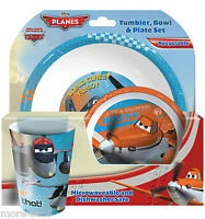 Disney Planes Children Kids Dinner Breakfast Tumbler, Bowl and Plate Set New