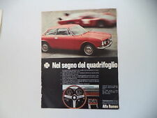 advertising Pubblicità 1969 ALFA ROMEO 1750 GT/GT 1300 JUNIOR