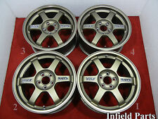 "JDM 16"" RAYS ENGINEERING TE37 FORGED 16x7 +46 5x100 RIMS LEXUS TOYOTA #EF689"