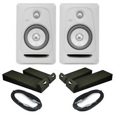 KRK Rokit RP5 G3 - White Noise (Pair) With Isolation Pads & Cables