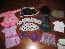 "Journey Girls Battat 18"" Doll Coat Outfit Clothes Shoes Lot Fits American Girl"