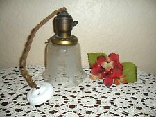 ANTIQUE HANGING LIGHT LAMP CEILING FROSTED ORIGINAL SHADE, BROOKLYN, NY HOME