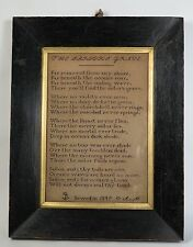 Early Victorian 'Sailor's Grave' embroidery needlework sampler 1849
