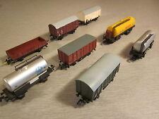 8x Piko verschiedene Güterwagen Kesselwagen Kühlwagen Spur N