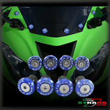 Strada 7 CNC Windscreen Bolts M5 Wellnuts Set Honda CBR1100XX / BLACKBIRD Blue