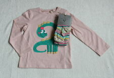 ***BNWT Next baby girl Dino top and tights set 12-18 months***
