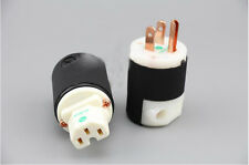 Viborg 8215C Copper US Audio Power Plug +IEC Power Connector Pair