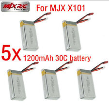 5 x 7.4V 1200mAh 30C Lipo Spare Battery For MJX X101 Quadcopter RC Drone UFO Toy