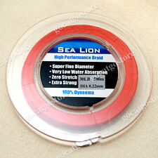 NEW Sea Lion 100% Dyneema Spectra Braid Fishing Line 500M 30lb Red