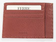 New Ferre Rusty Leather Credit card holder
