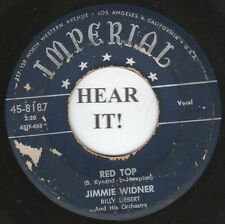 Jimmie Widner R&B 45 (Imperial 8187) Red Top / Sneakin' Around