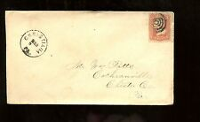 US Cover with Great Cancel 1869 Christiana, Pa to Cochranville, Pa