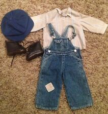 American Girl Kit Retired HOBO Outfit Hat Shirt Overalls Boots Rare