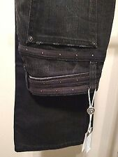 Joes Jeans Sz 25 Black Distressed Provocatuer Connor Slim Boot Cut New NWT