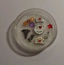Nursing Floating charms with Origami Owl Crystals for locket