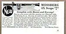 1935 Print Ad Mossberg No. 6 Rifle Scopes 4X New Haven,CT