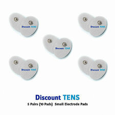 TENS Small Snap On Electrode Pads, 5 Pairs (10 Pads)