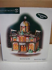 Dept 56 North Pole - North Pole Town Hall - Plays Music