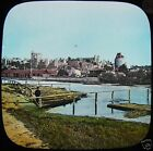 HAND COLOURED Glass Magic Lantern Slide WINDSOR C1890 PHOTO ENGLAND THAMES
