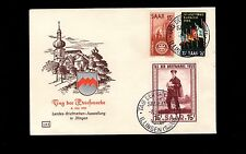 Germany Saar Stamp Day Special Cancel & Stamp 1955 Unaddressed Cover 1r