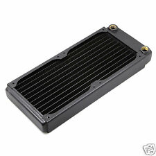 240 Radiator Dual Copper Matt Black 30mm Thick G1/4 Thread PC Liquid Cooling B1