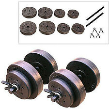 Golds Gym 40 Lb Vinyl Dumbbell Adjustable Weight Set Dumbbells Hand Weights