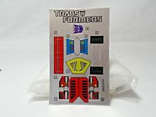 1985 Insecticon Bombshell Transformer Action Figure Sticker Sheet