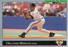363   ORLANDO MERCED    PITTSBURGH PIRATES  BASEBALL CARD LEAF 1992