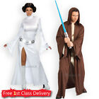 Adult Sexy Princess Leia Jedi Fancy Dress Couples Costumes Star Wars Licensed