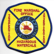 "Derby  Fire Marshal Office / HAZ-MAT, Conn.  (4"" x 4"" size) fire patch"