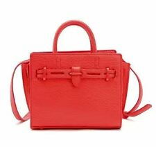 MNG Pebbled Small Bag (Red & Black)