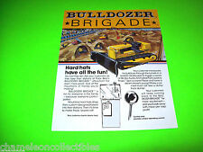 BULLDOZER BRIGADE By POLAR BEAR 1981 ORIGINAL REMOTE CONTROL BULL DOZER FLYER