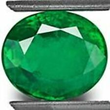 4.28-Carat Magnificent Deep Velvet Green Brazilian Emerald, 10.68 x 9.02 m SALE