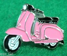 Pink Girls Scooter Female Scooterist MOD Scooter Bike Enamel Metal Pin Badge 1
