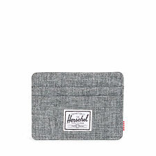 Herschel Supply Company Charlie Wallet Credit Card Holder Raven Crosshatch