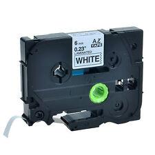 Schriftband für Brother Schwarz auf Weiß TZe-211 TZe211 6mm PT-E200 E100 D600VP