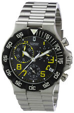 Swiss Army Summit XLT Chronograph Stainless Steel Mens Watch Black Dial 241409