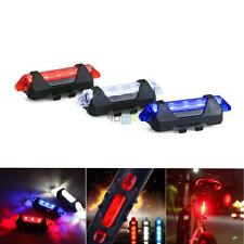 Volcano ATV Bicycle Riding Safety LED Light  White Blue Red Set USB Rechargeable