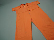 Inmate Jail Prisoner Costume Convict  Orange Prison  Jumpsuit  3XL